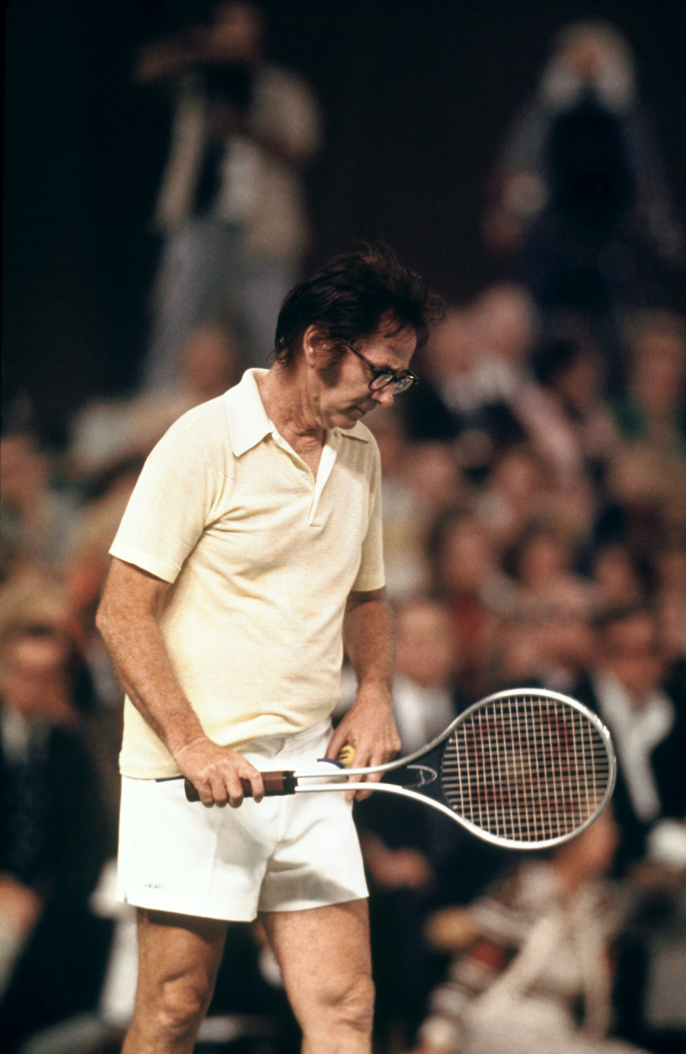 A 55-year-old Bobby Riggs on court in 1973 - the year he played Margaret Court and Billie Jean King in two momentous matches ©Getty Images