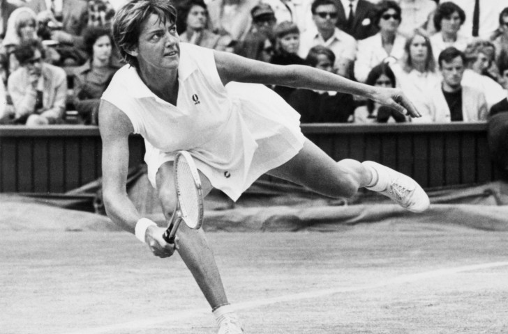 Australia's Margaret Court was the world's top female player in 1973, winning three of the four Grand Slams - but she was outmanoeuvred and outsmarted by Bobby Riggs in their challenge match on May 13 - Mother's Day - in Ramona, California ©Getty Images