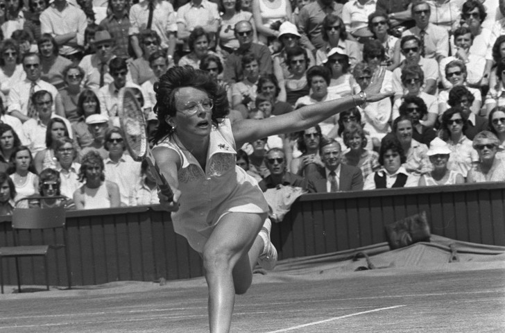 Billie Jean King en-route to her 1973 Wimbledon victory over Chris Evert - a couple of months before her Battle of the Sexes challenge against Bobby Riggs at the Houston Astrodome ©Getty Images