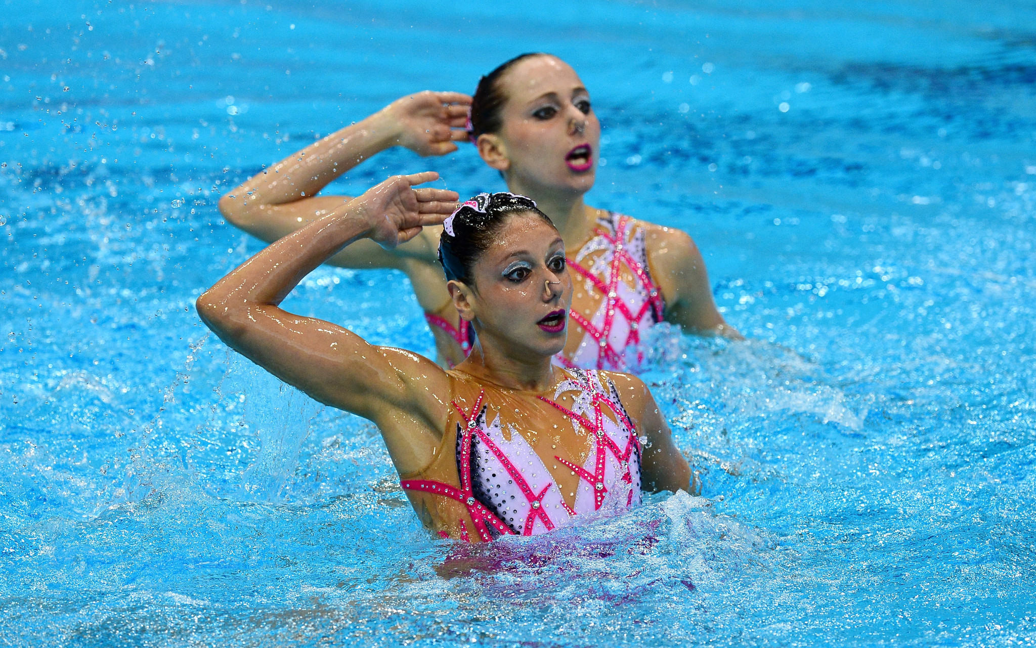 Linda Cerruti and Constanza Ferro triumphed in the duet technical event ©Getty Images