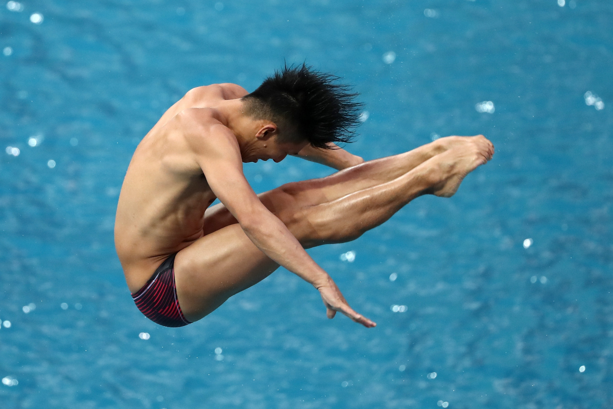 Ken Terauchi won one of the men's 3m semi-finals today ©Getty Images