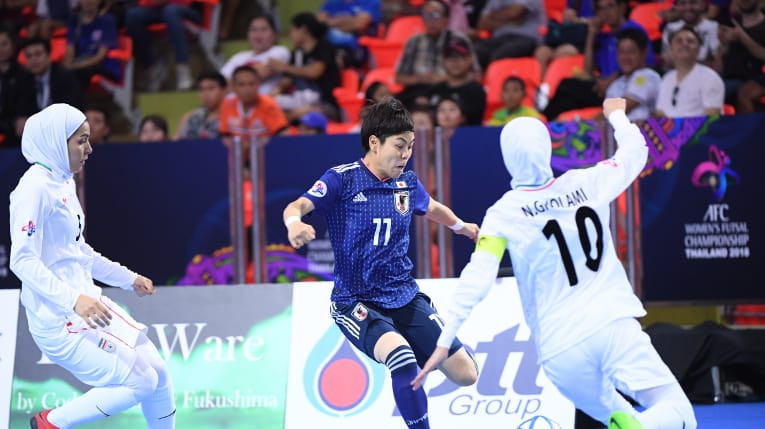 Iran scored three quick goals in the second half to take the game away from their Japanese opponents ©AFC