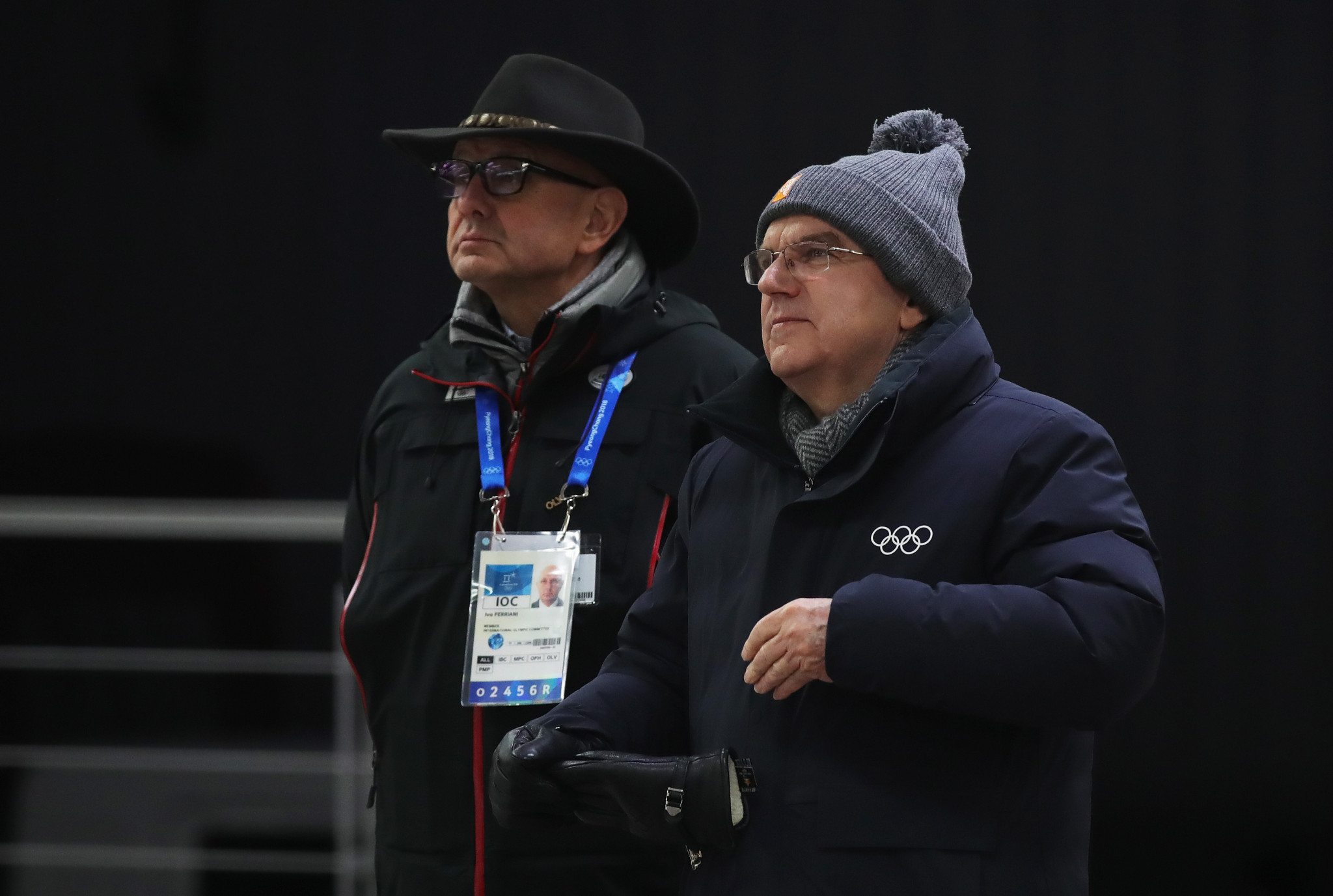 Ivo Ferriani, left, pictured alongside IOC President Thomas Bach ©Getty Images
