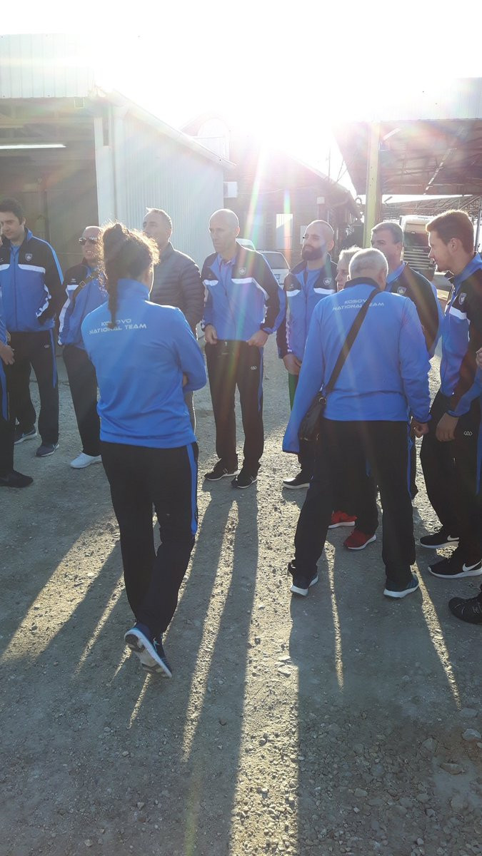 Kosovo's team was twice barred from entering Serbia to compete at the European Karate Championships ©NOC Kosovo/Twitter