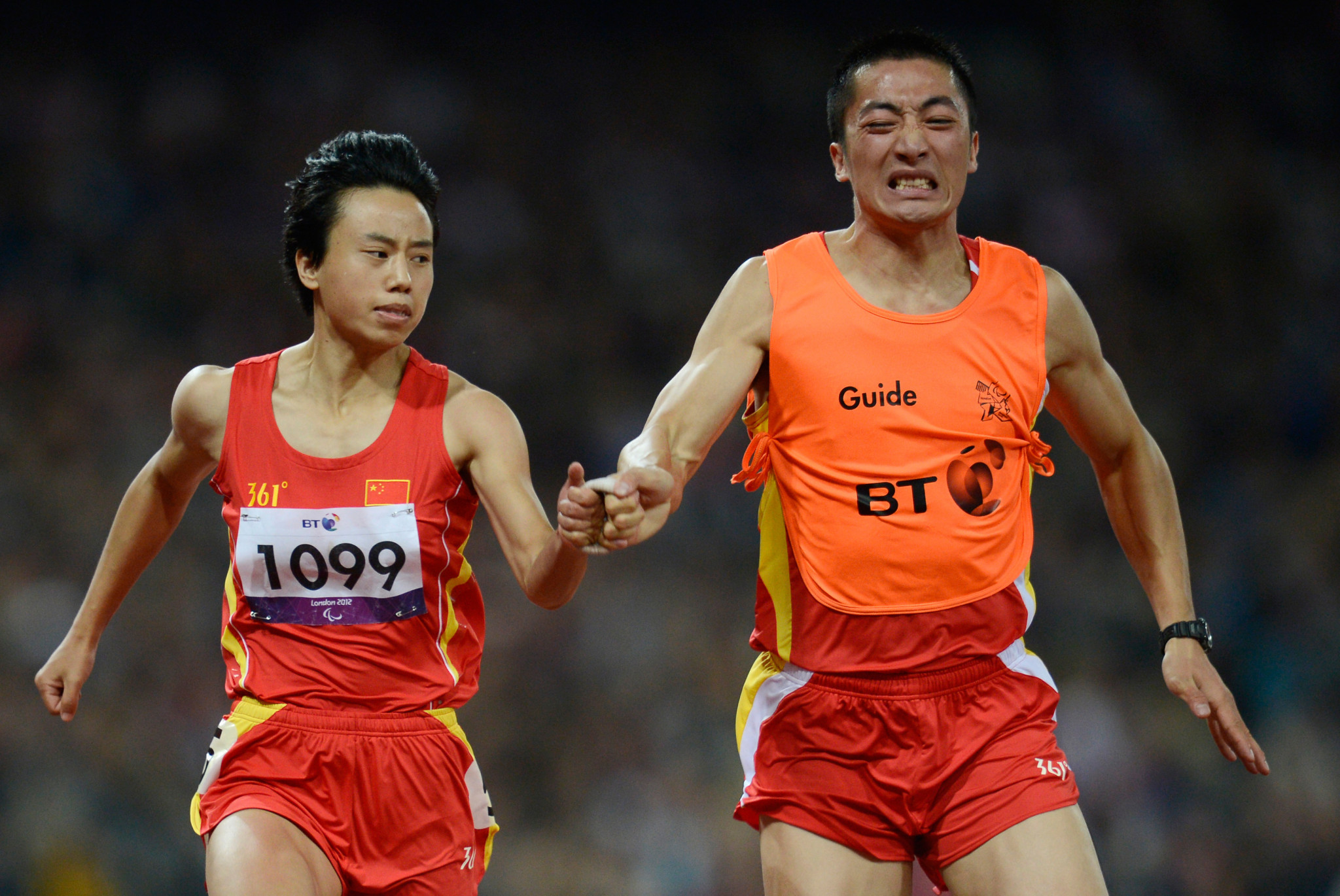 China's double Paralympic gold medallist Zhou Guohua won the women's 100m T11 final ©Getty Images