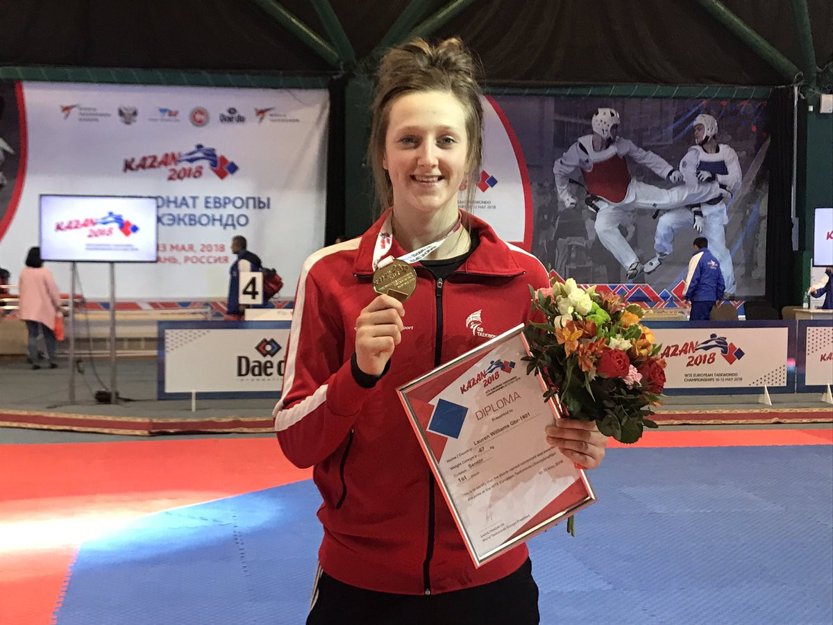 Williams defends title at European Taekwondo Championships
