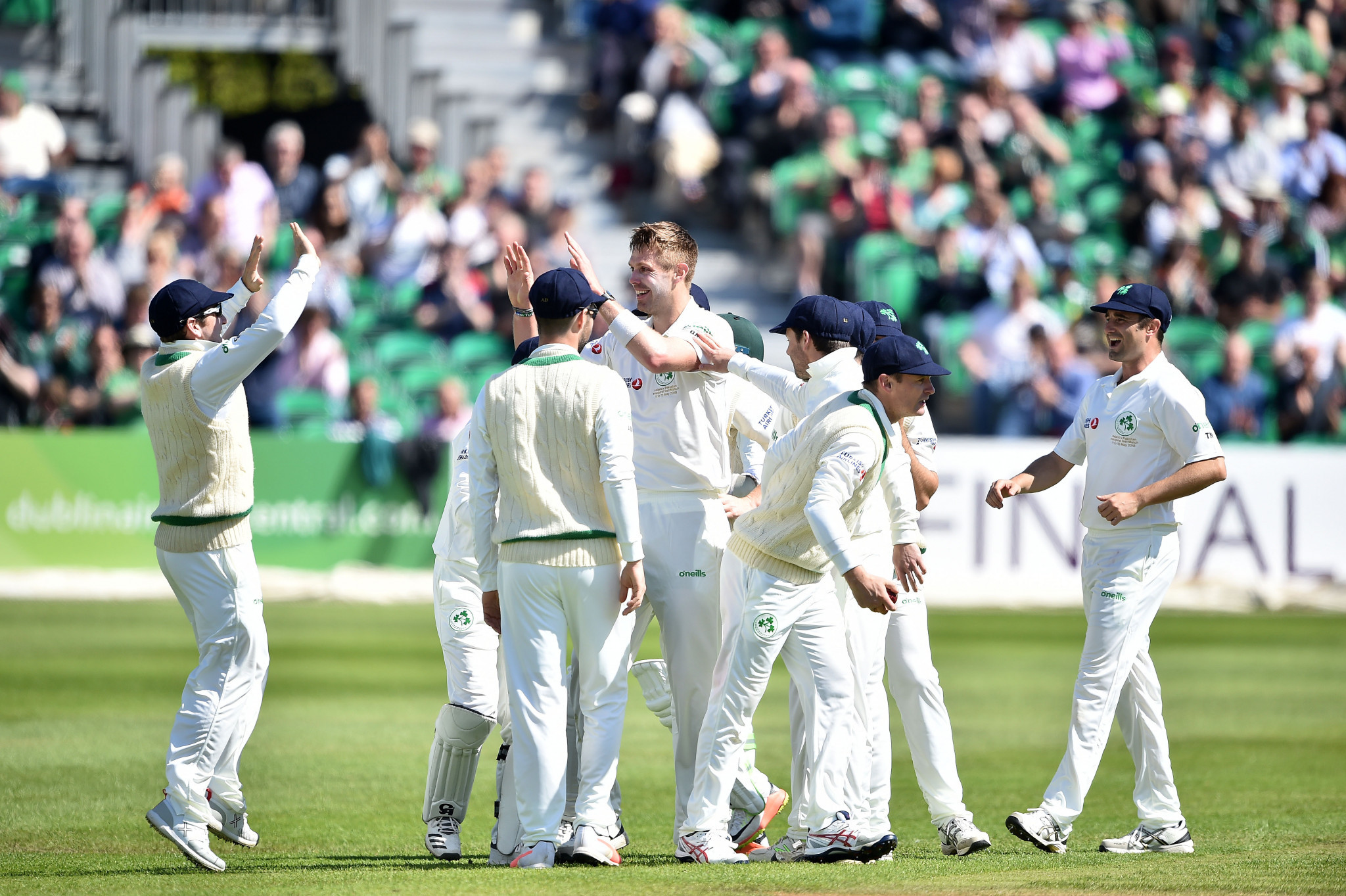 Ireland made a promising start to their Test debut as Pakistan were put under considerable pressure before recovering to reach the close at 268-6 ©Getty Images