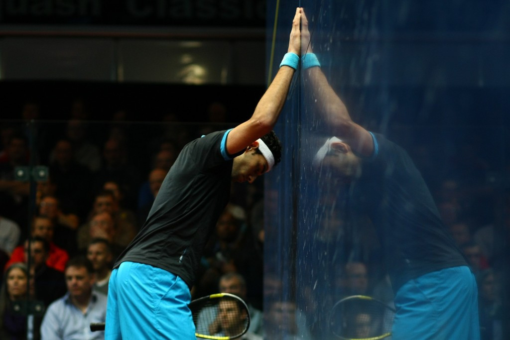 Mohamed Elshorbagy will be bidding to defend his men's title in January