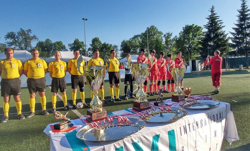 Marcin Ryszka scored the only goal of the game as Poland won the Blind Football Euro Challenge Cup ©Facebook