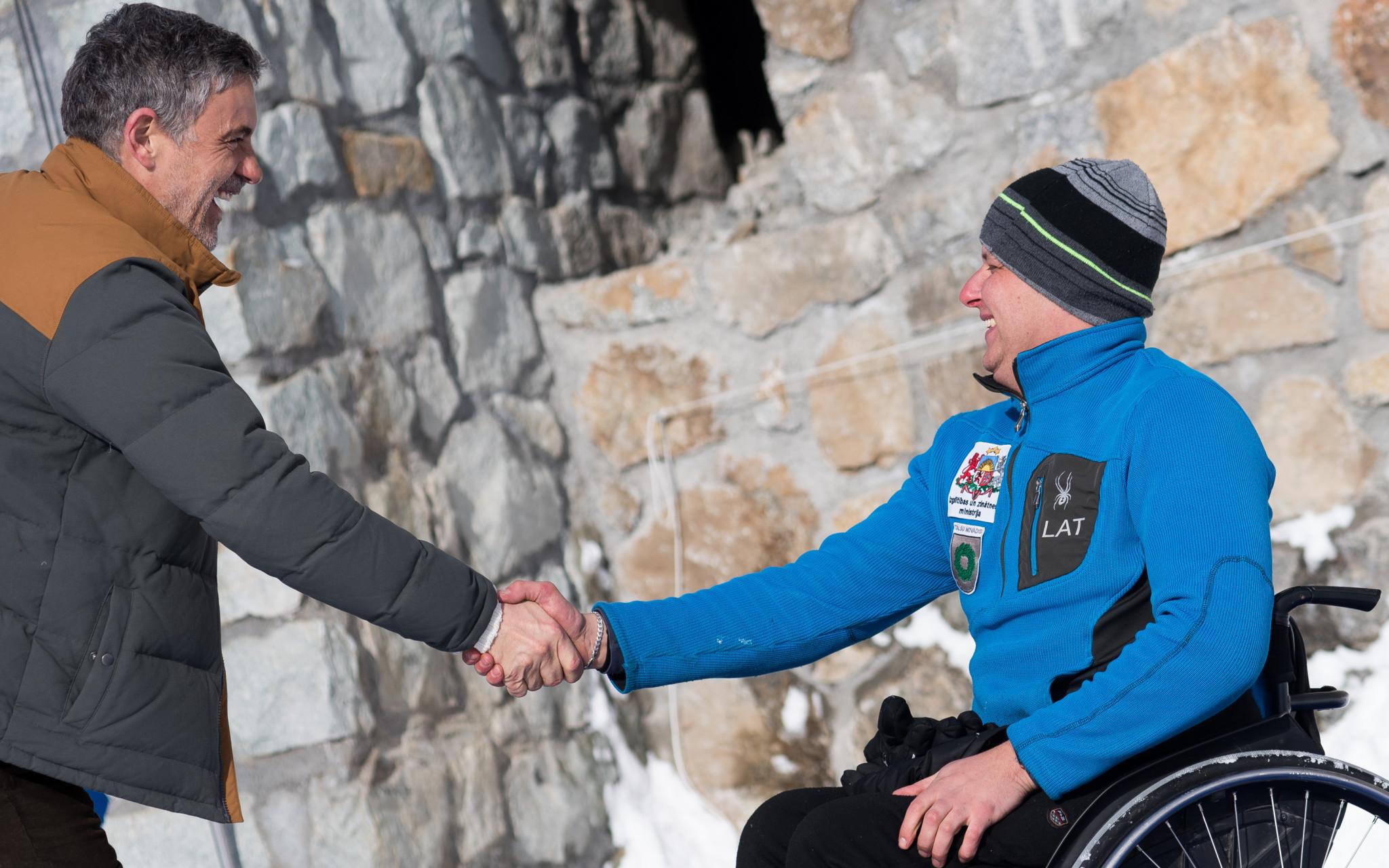 Fritz Burkard, left, has been heavily involved in the development of Para-bobsleigh ©Fritz Burkard