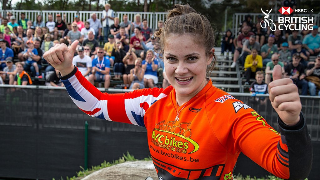 Bethany Shriever earned her first World Cup victory ©British Cycling