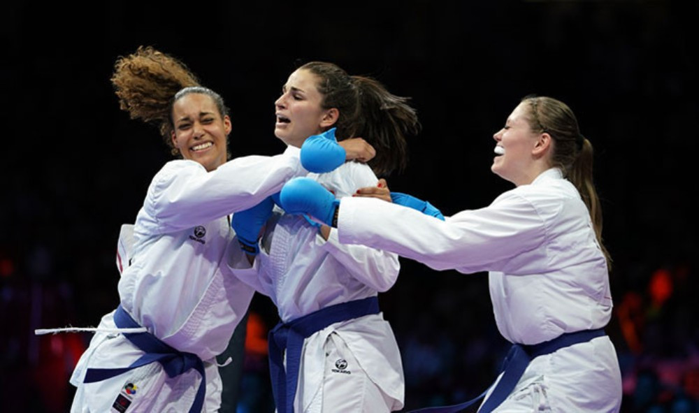 Elena Quirici earned individual and team gold medals on the first day of finals ©WKF