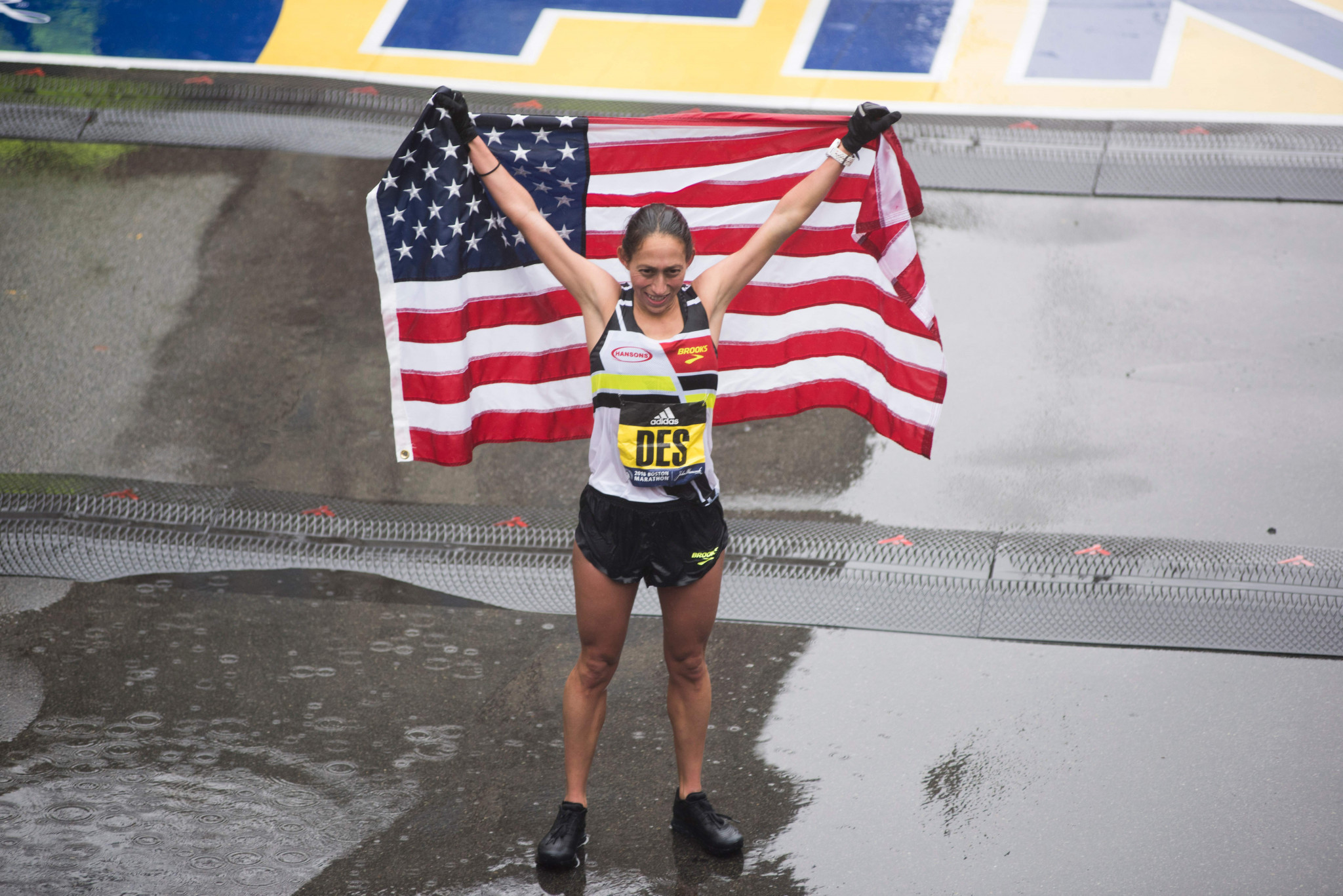 Desiree Linden became the first American female winner of the Boston Marathon since 1985 last month ©Getty Images