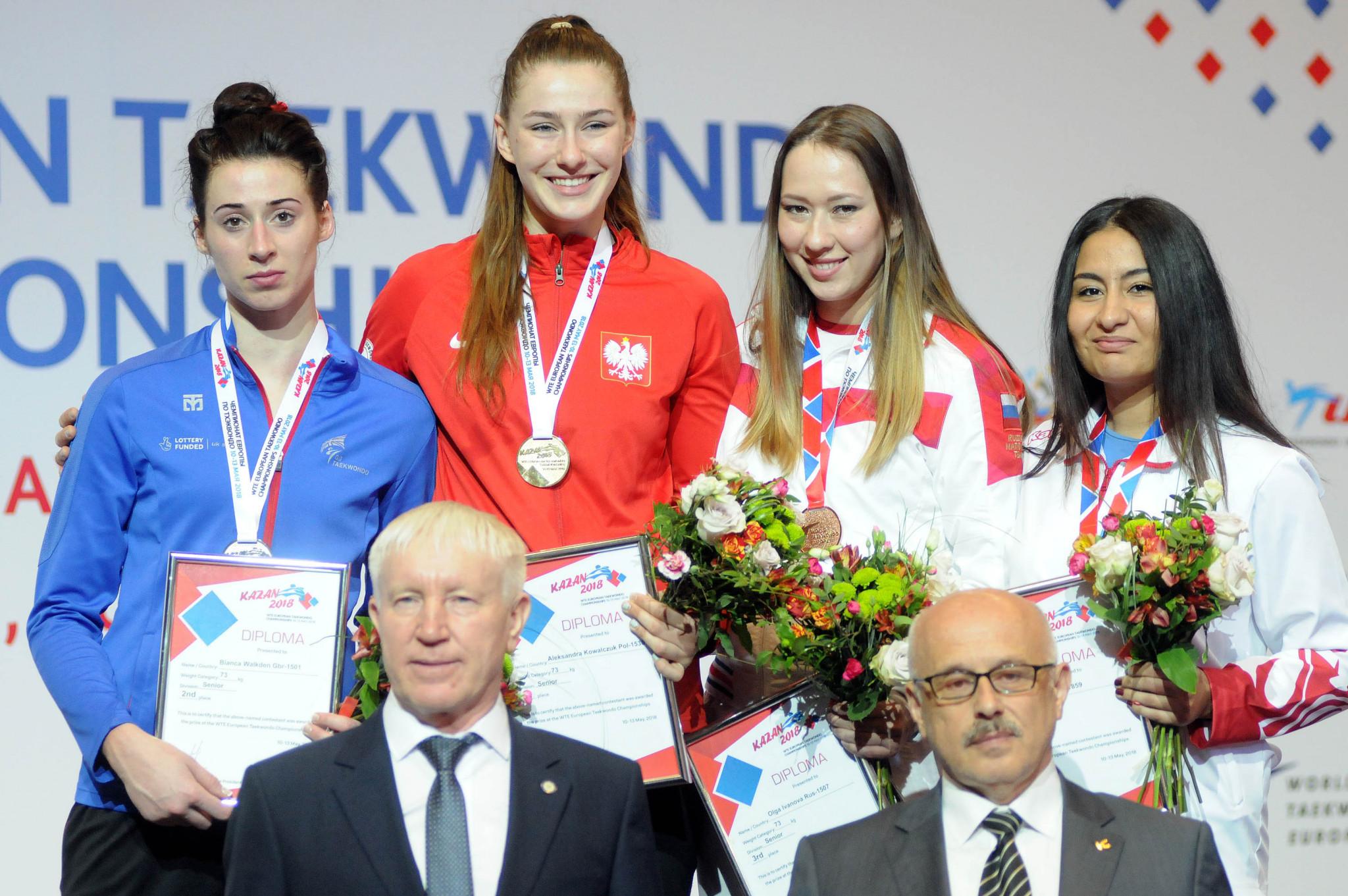 Kowalczuk upsets Walkden to claim gold at European Taekwondo Championships