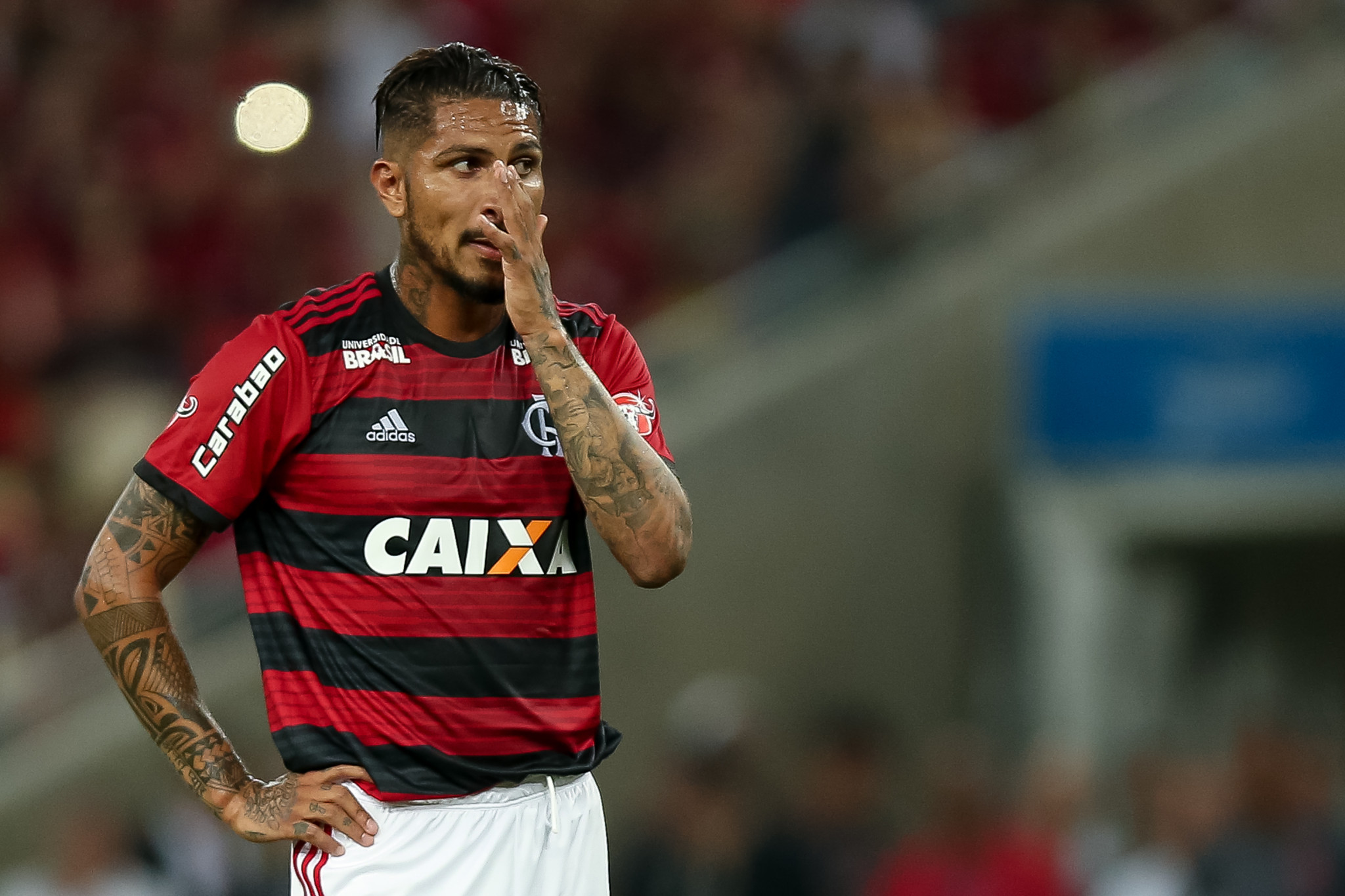Paolo Guerrero thought he had made his footballing comeback when he played for Brazilian side Flamengo last week ©Getty Images