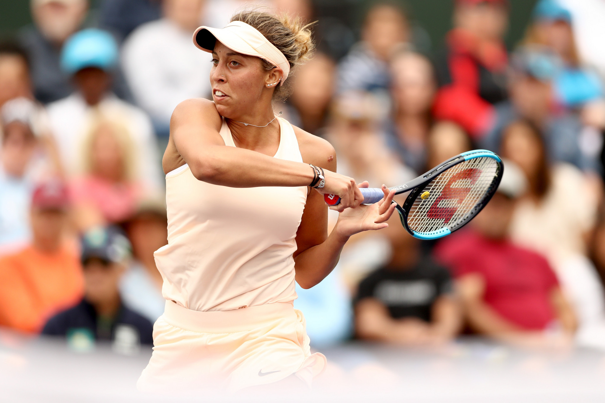 Madison Keys recorded a comfortable victory in the women's competition