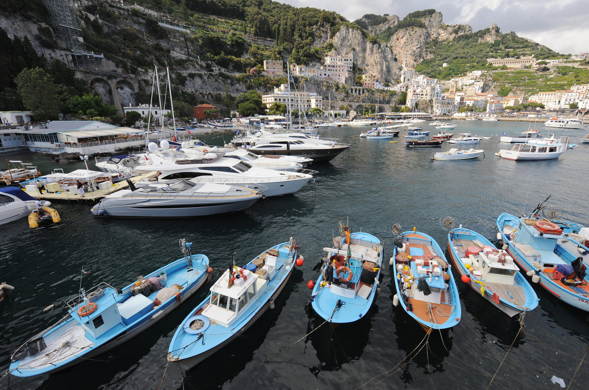 FISU have moved away from the idea of having the Athletes' Village based on boats in the port of Naples ©Getty Images