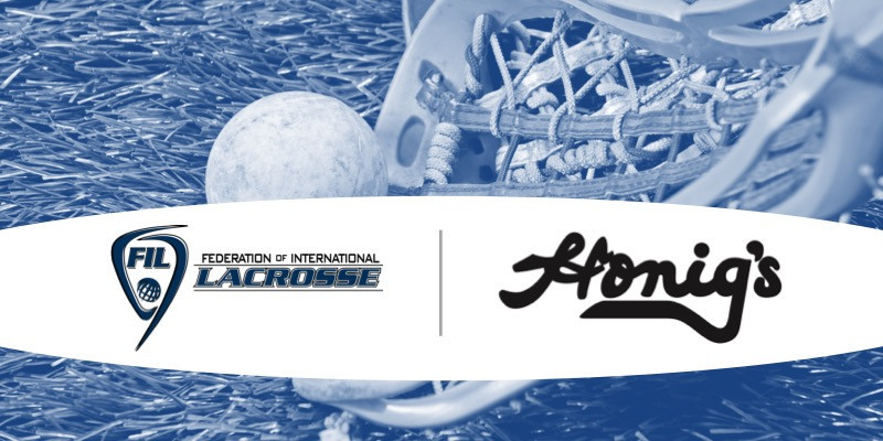The Federation of International Lacrosse has appointed Honig's as the official outfitter of the 2018 Men's World Championships ©FIL