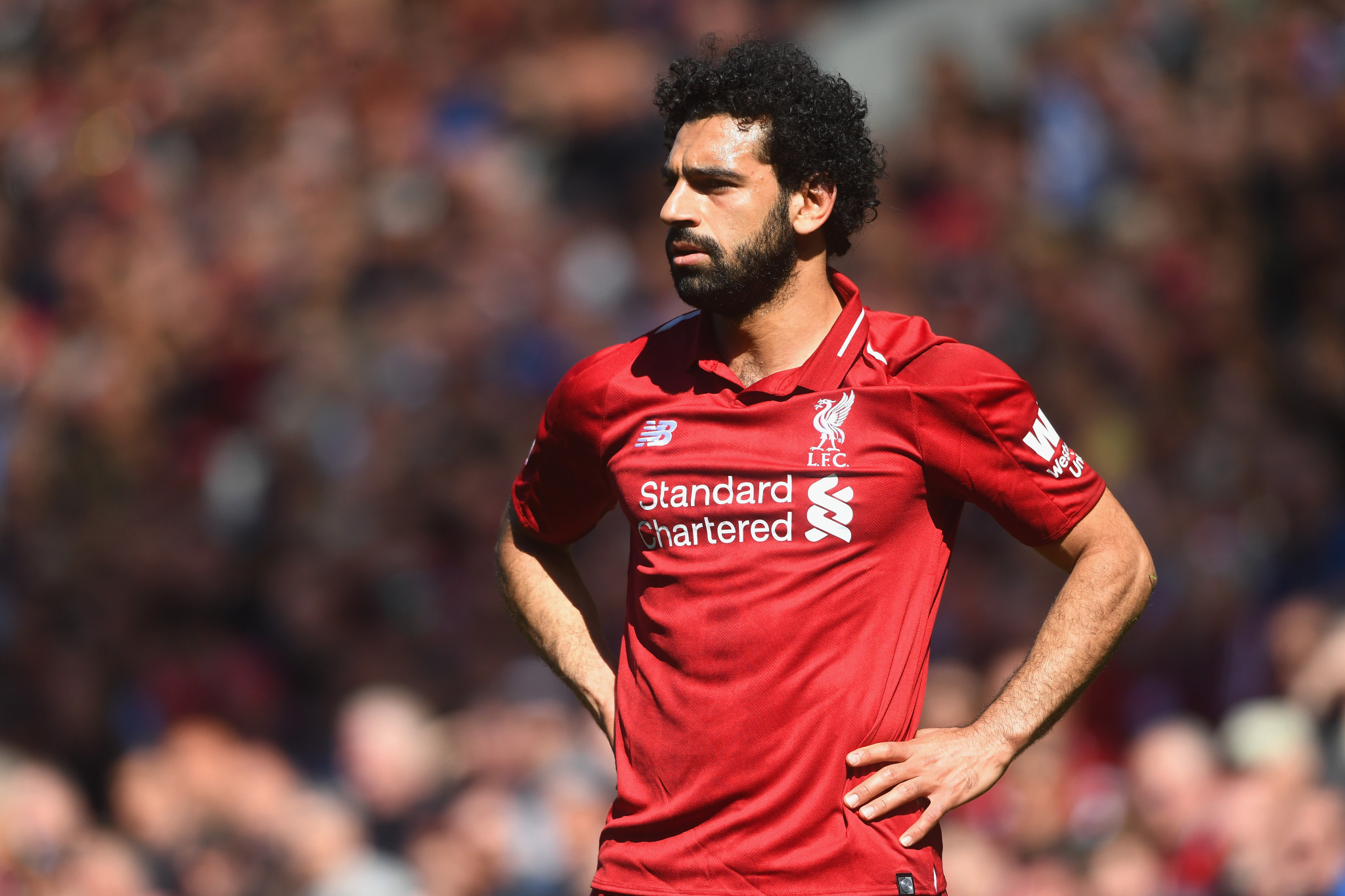 Mo Salah of Liverpool has hoovered up plaudits this season ©Getty Images