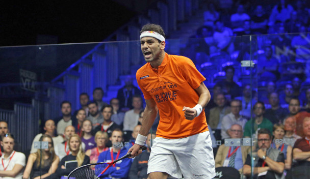 Top seed Elshorbagy survives scare to reach round two of British Open