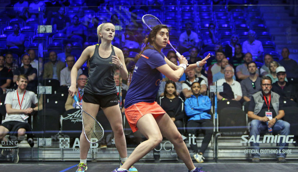 Nour El Sherbini, right, was among other winners today ©World Squash