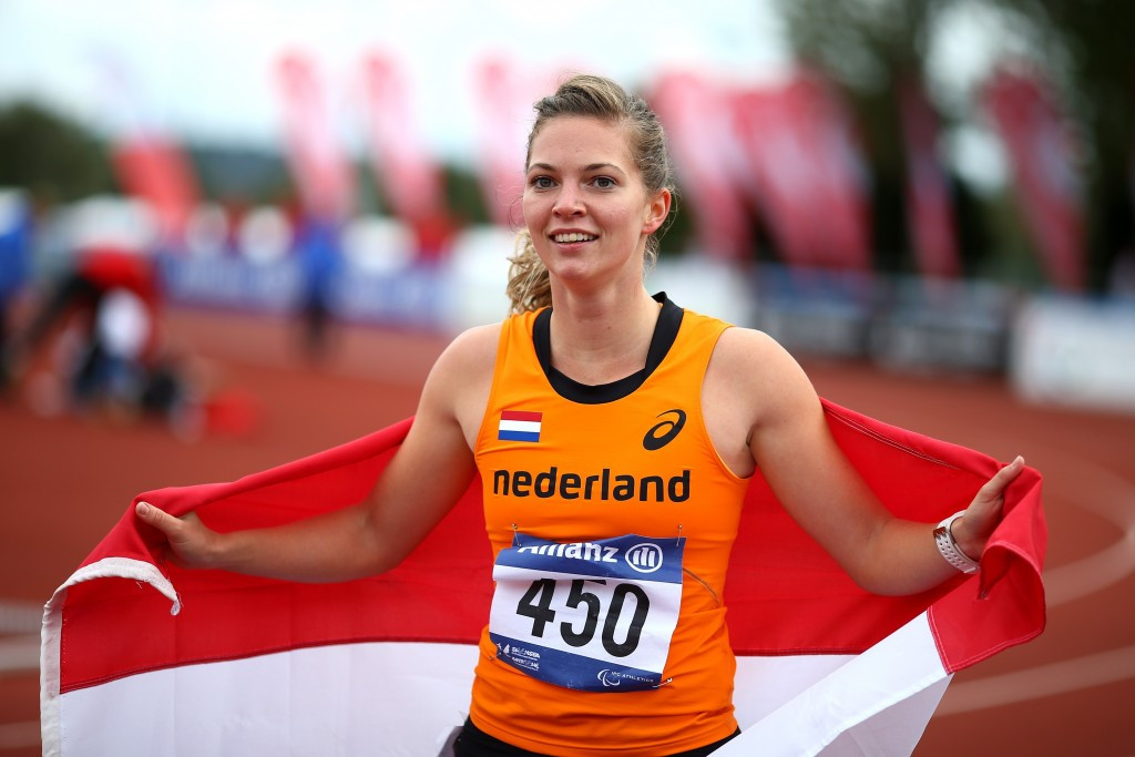 Marlou van Rhijn will hope to defend her T43 100m and 200m titles at the Championships ©Getty Images