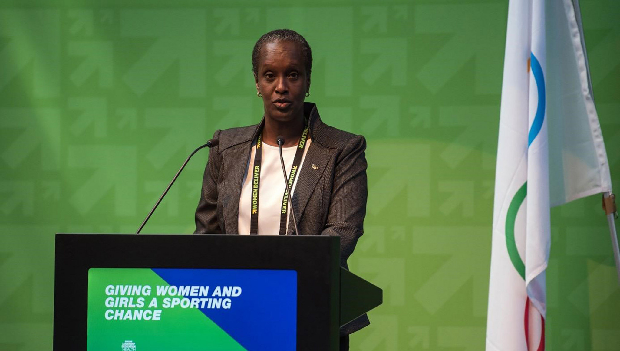 Lydia Nsekera has spoken before the World Conference on Women and Sport ©IOC