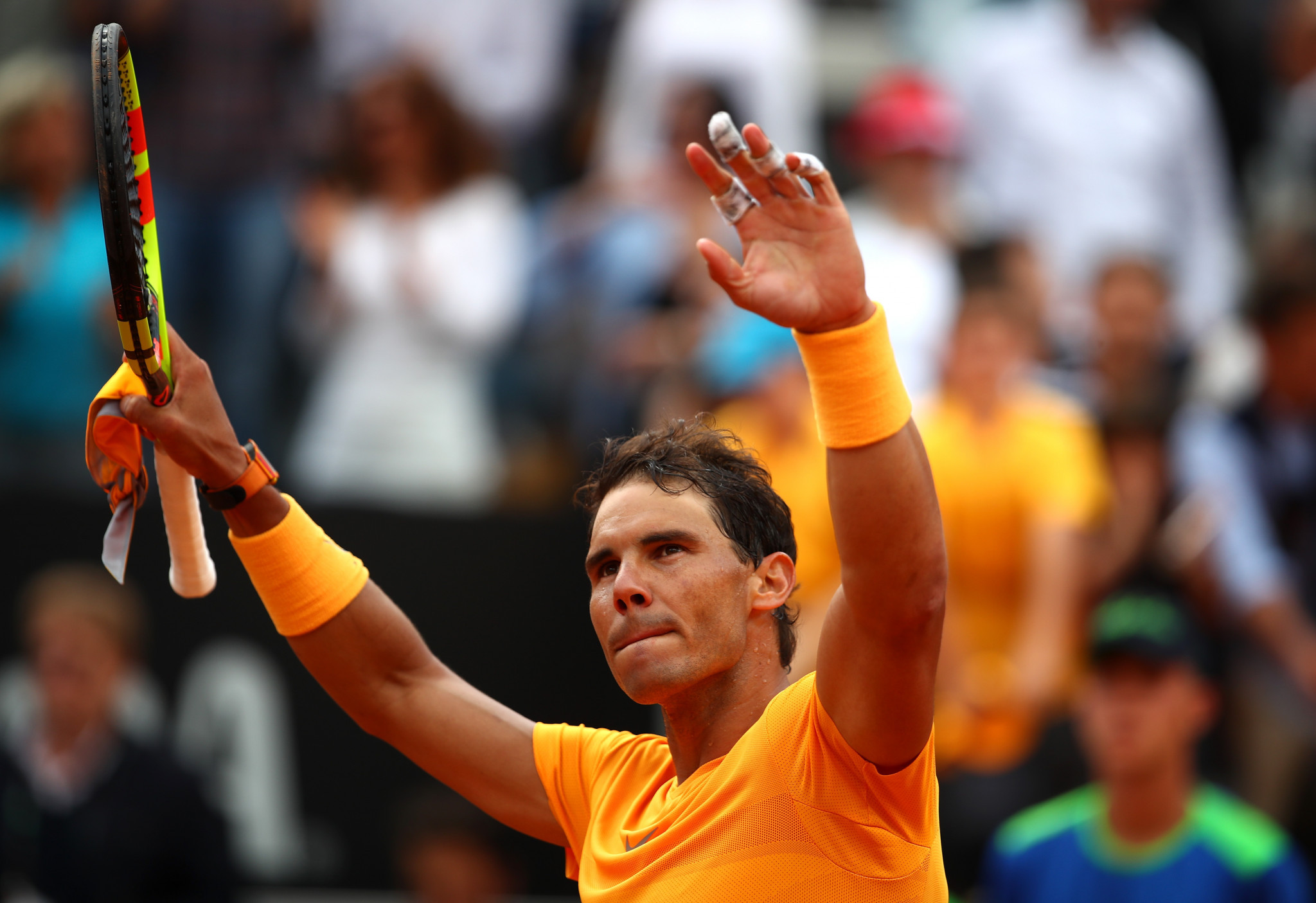 Number one seeds Nadal and Halep secure easy victories at Italian Open