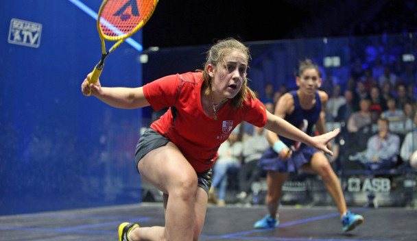 Tesni Evans produced a surprise win in the women's singles today ©PSA World Tour