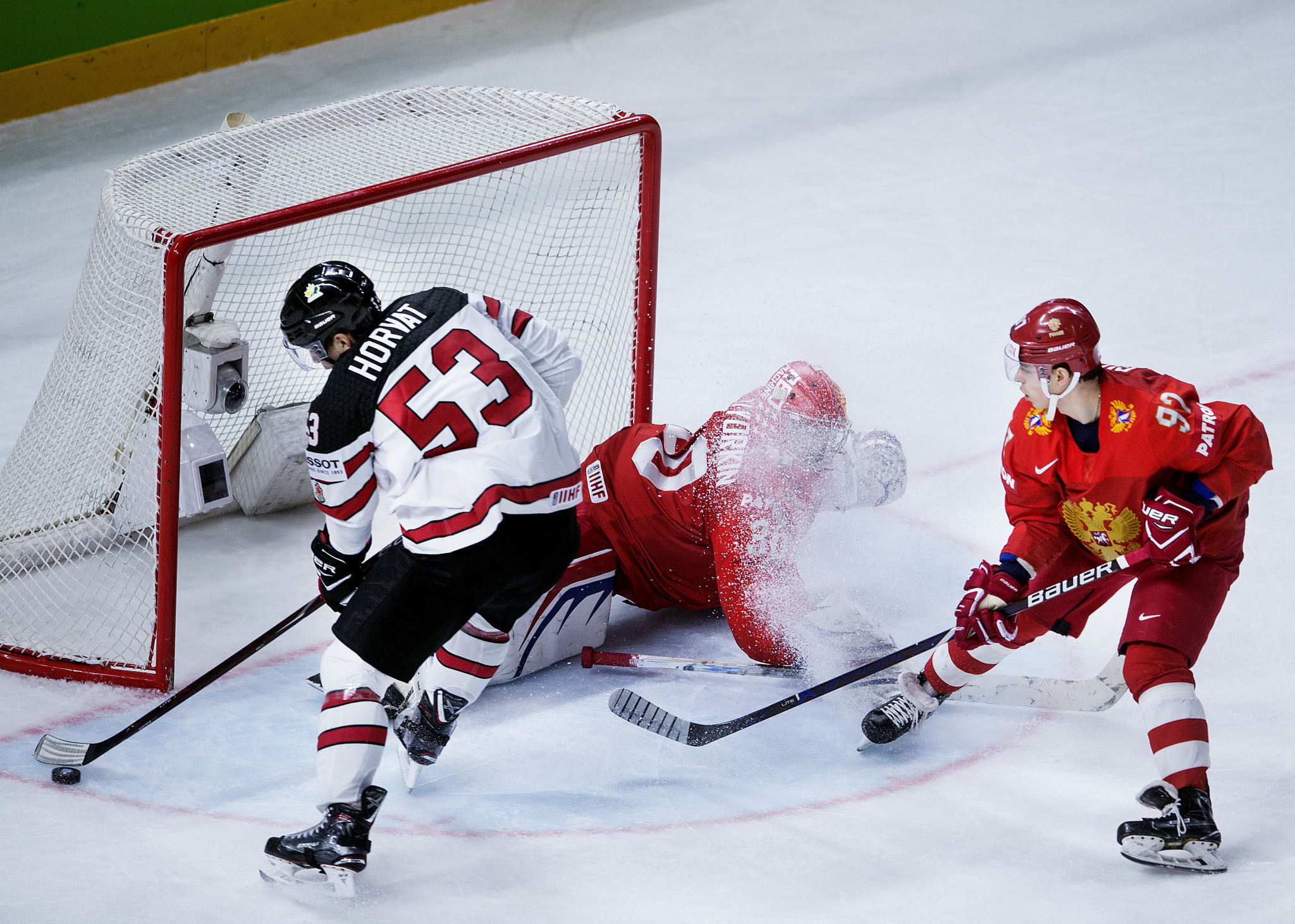 Canada earned an overtime victory against Russia to reach the semi-finals ©Getty Images