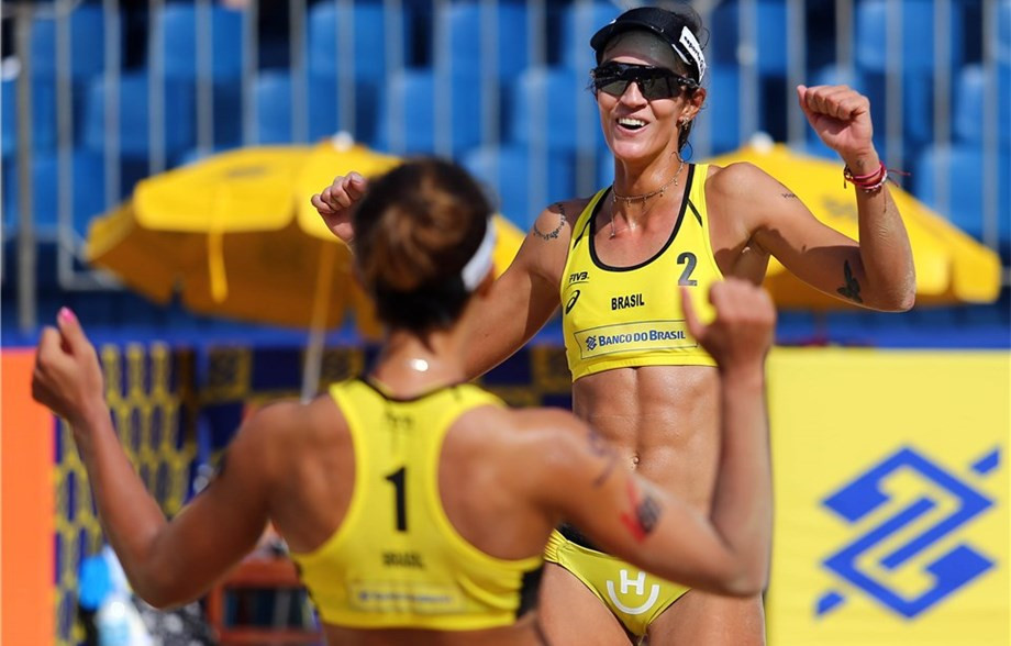 Hosts Brazil dominate opening day of main draw at FIVB World Tour Itapema Open