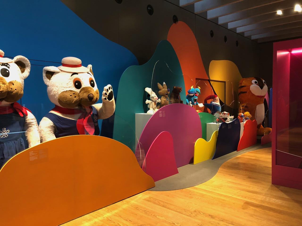 Mascots on display in the new exhibition ©Olympic Museum