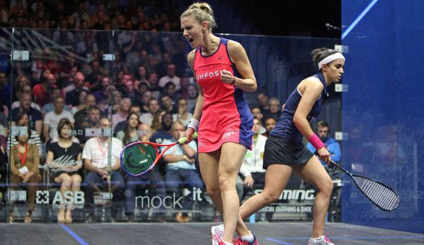 Laura Massaro produced a superb performance to beat a higher-ranked opponent ©PSA World Tour