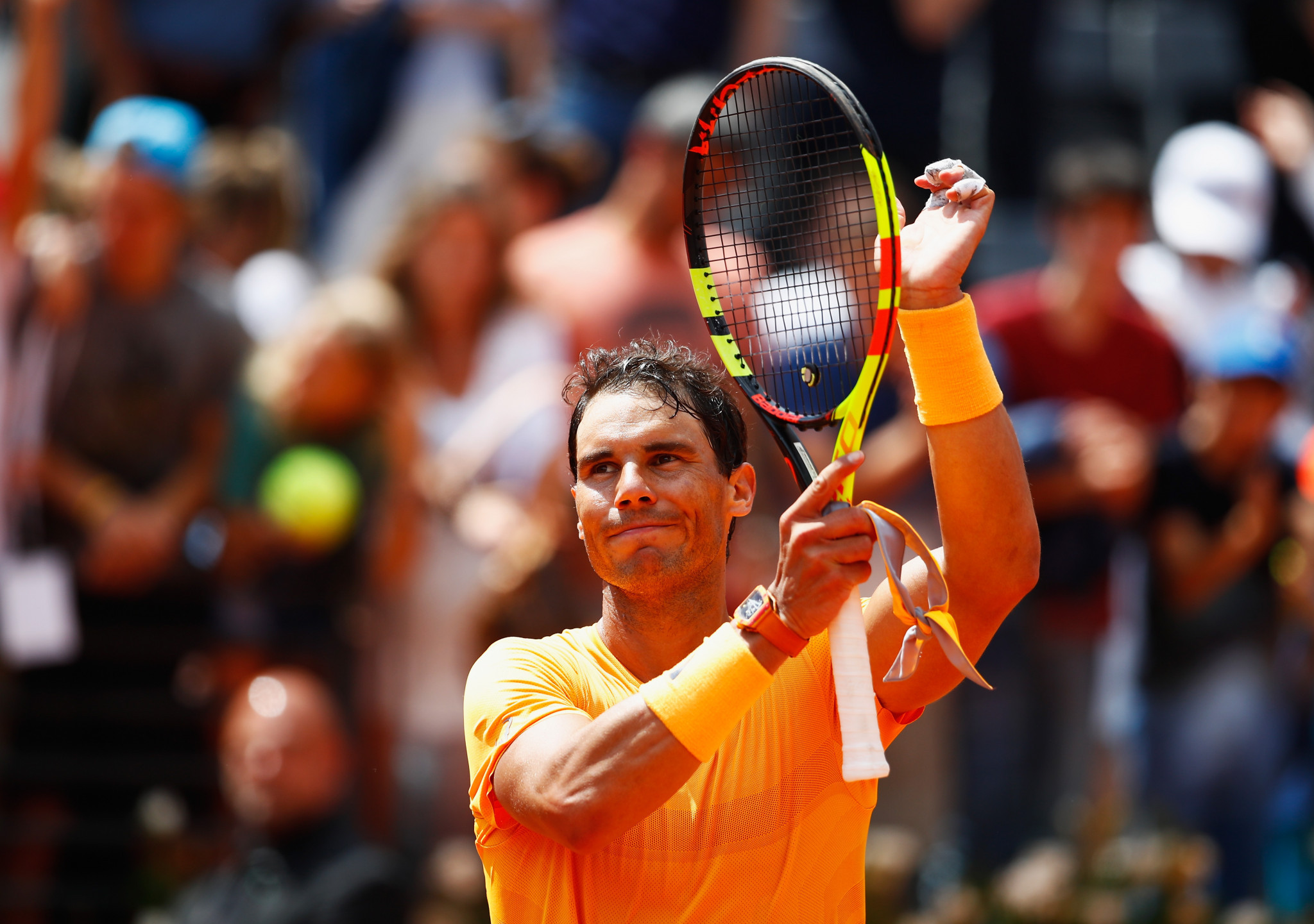 Rafael Nadal came from a set down to reach the Italian Open semi-finals ©Getty Images