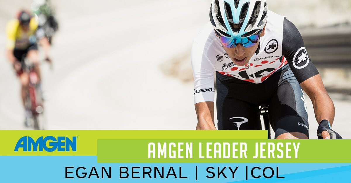 Bernal reclaims race lead at Tour of California with stage six victory