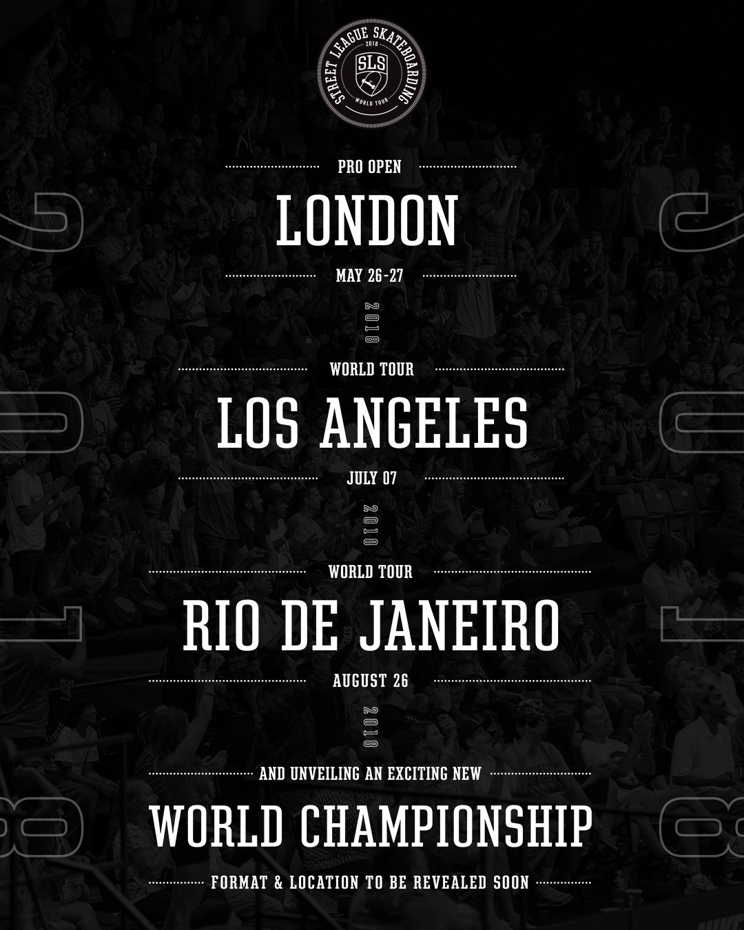 Street League Skateboarding will travel around the world this year ©SLS