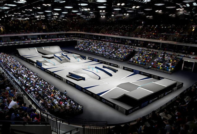 London's Copper Box will take on a new look to host the forthcoming Street League Skateboarding Pro Open London event ©SLS