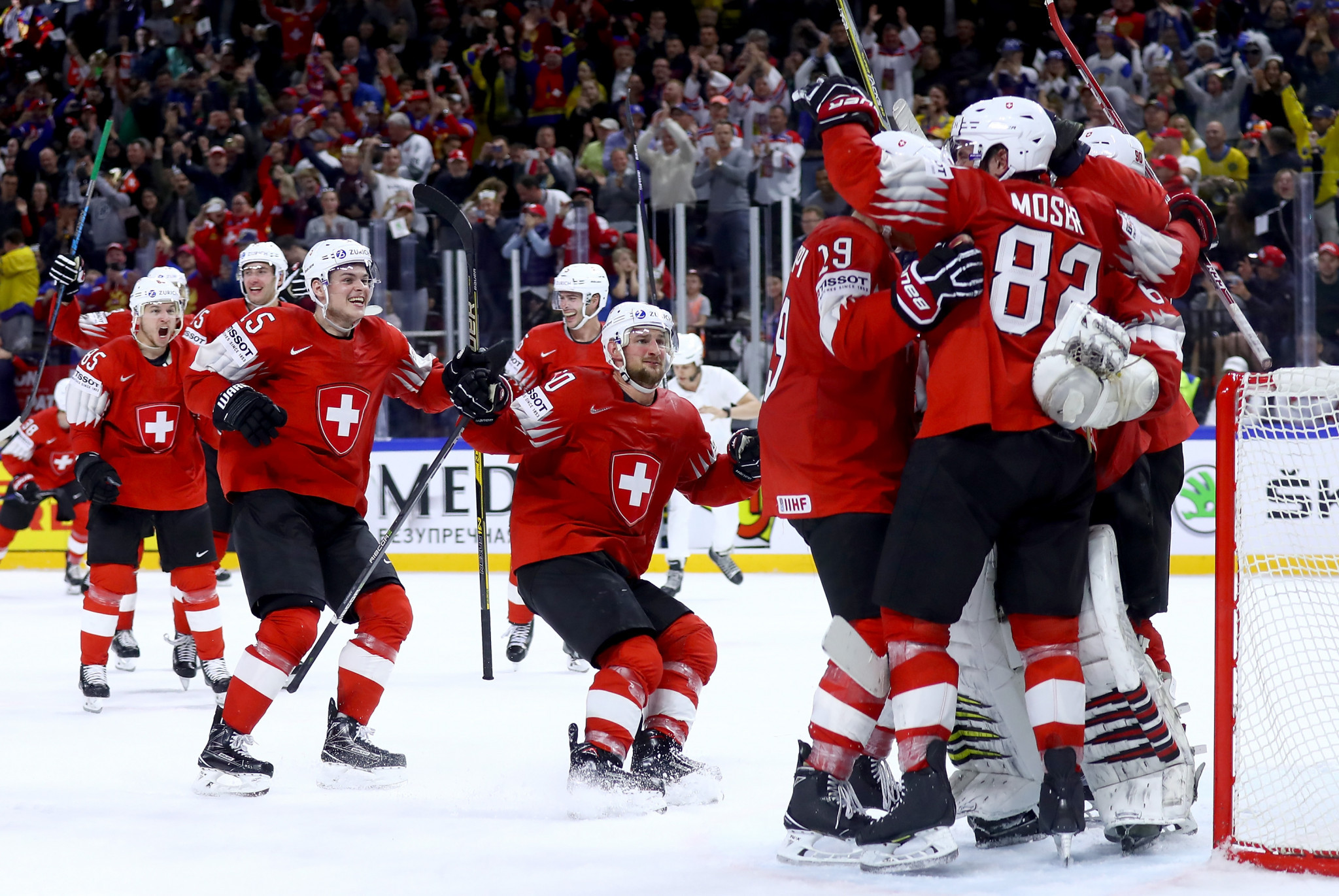 Switzerland earned a narrow win over Canada to reach the final ©Getty Images