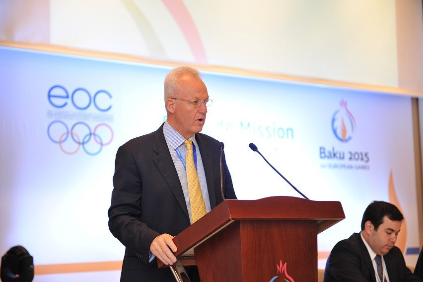 Simon Clegg served as the chief operating officer for the Baku 2015 European Games ©EOC