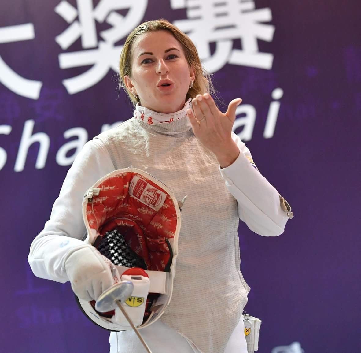 Olympic champion Inna Deriglazova of Russia claimed the women's title at the FIE Grand Prix in Shanghai ©FIE/Twitter