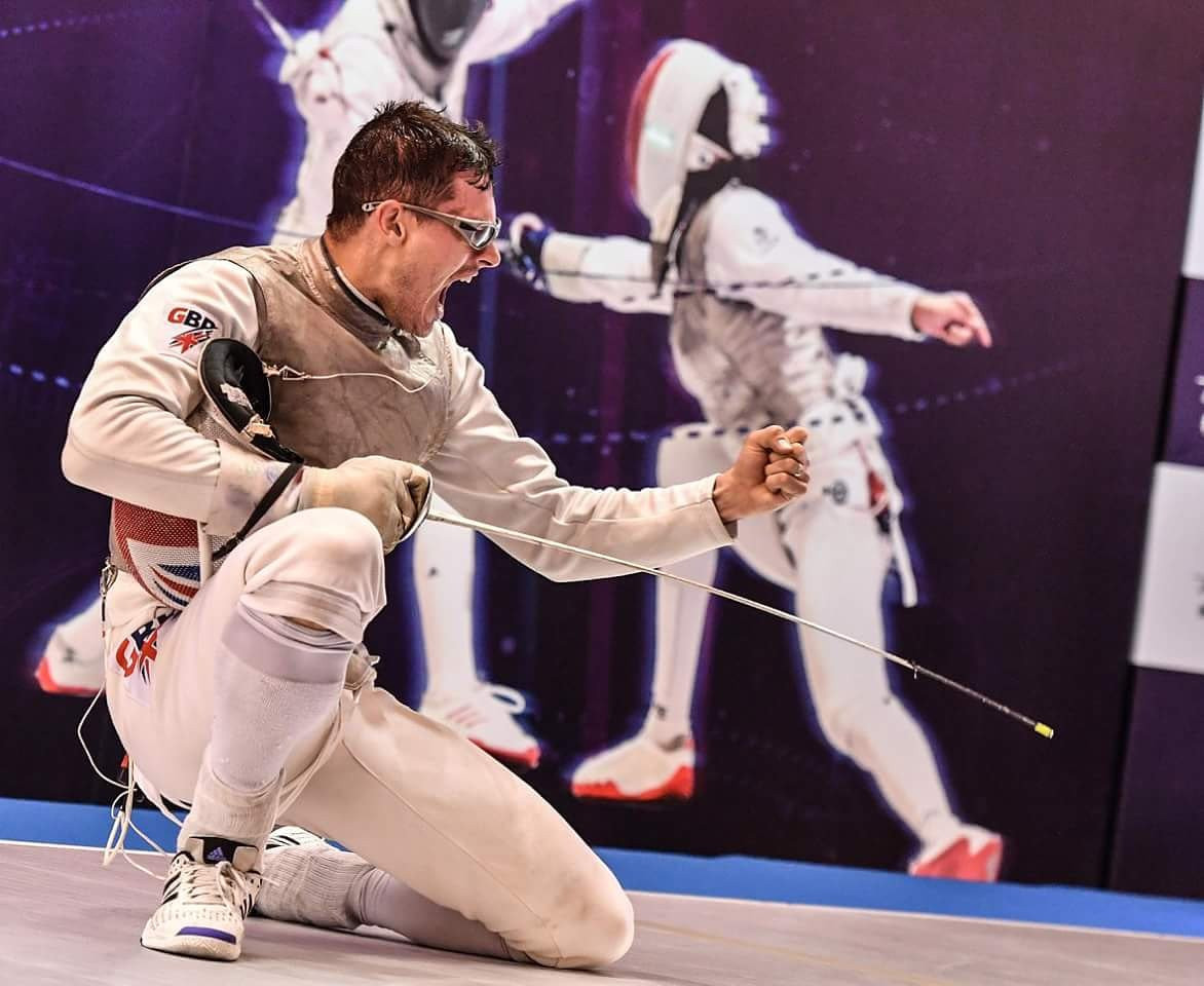 Great Britain's Richard Kruse won the men's title for the second consecutive year ©FIE/Twitter