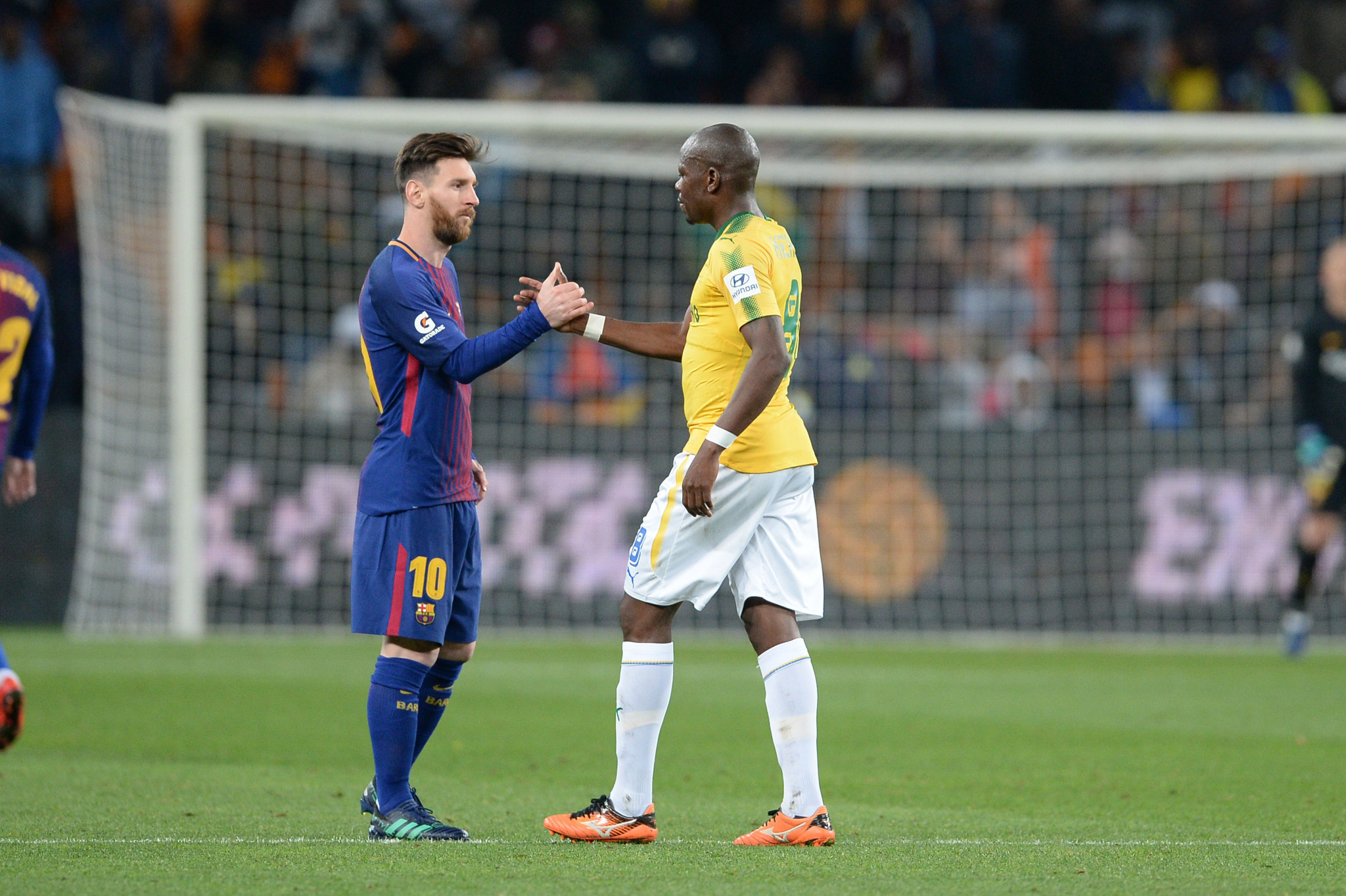 Officials expressed concern over the strain on players while Barcelona were playing a friendly in South Africa before their domestic season ended ©Getty Images