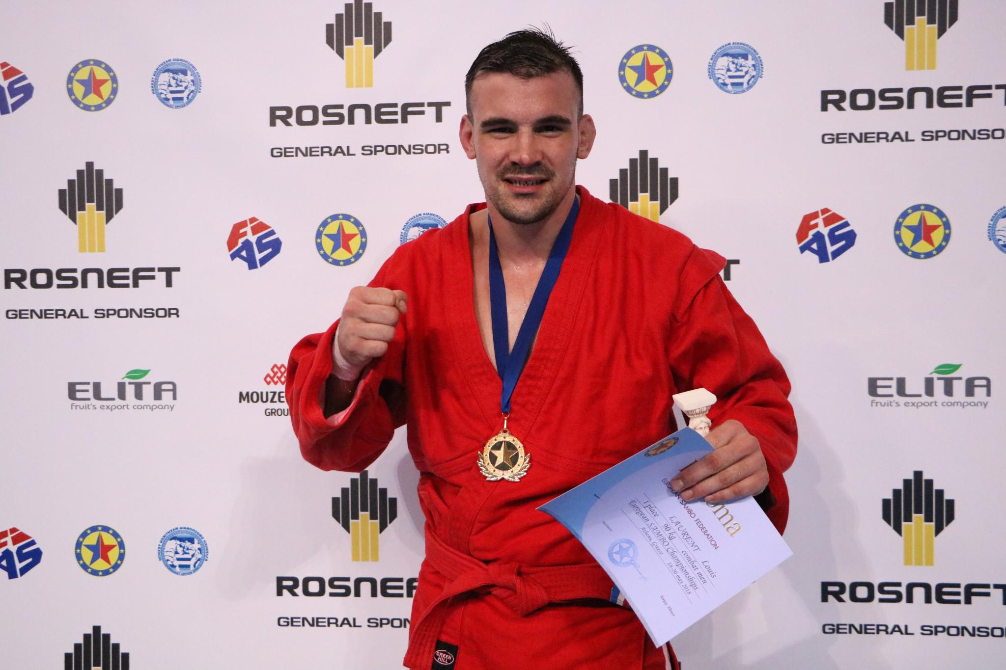 France's Louis Laurent put on an excellent display to claim the combat men's 90kg gold medal ©FIAS