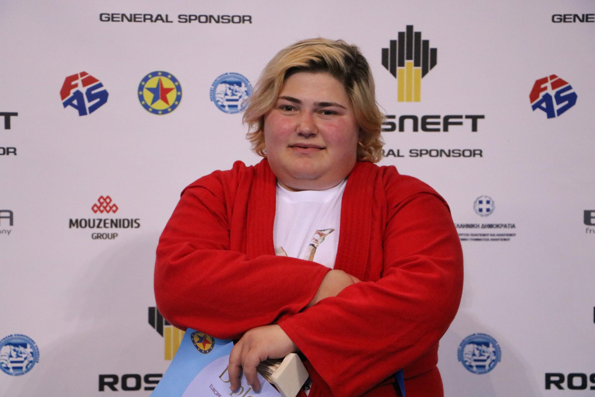 Georgia's Elene Kebadze was one of the two women's over 80kg bronze medallists ©FIAS