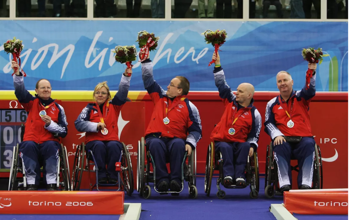 Angie Malone helped Great Britain claim the wheelchair curling silver medal at the Turin 2006 Winter Paralympic Games ©ParalympicsGB