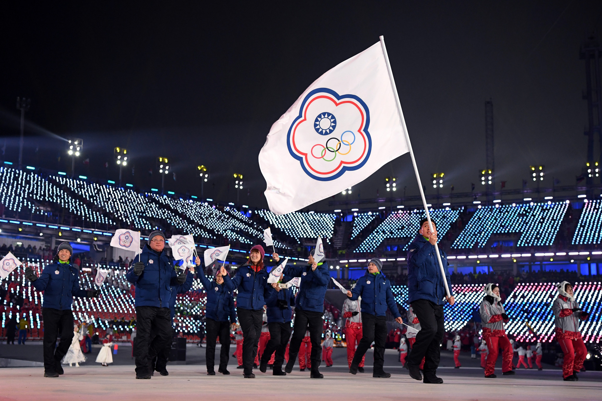 Taiwanese athletes will compete under the Chinese Taipei flag at Tokyo 2020 ©Getty Images