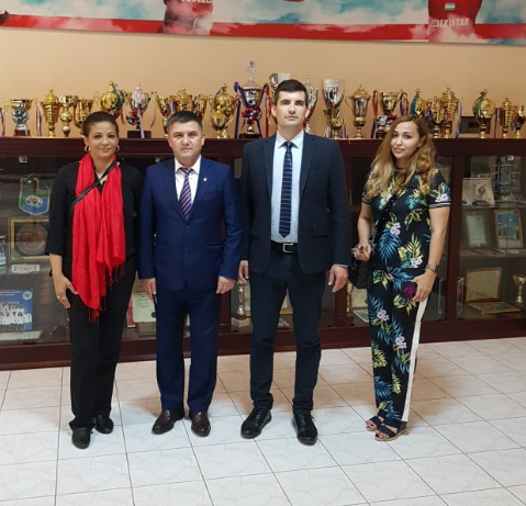 The IWF sent a delegation to Tashkent ©IWF