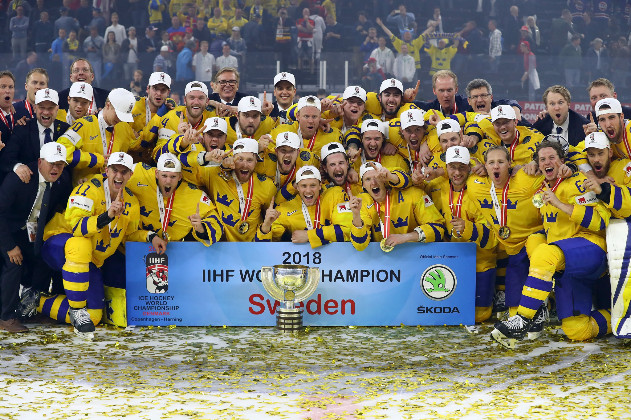 Sweden won the 2018 IIHF World Championship yesterday ©Getty Images