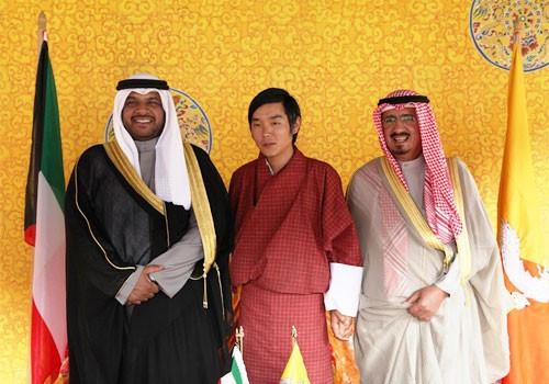 Bhutan Olympic Committee President Prince Jigyel Ugyen Wangchuck has met with Kuwait's chairman of the Public Authority for Youth and Sports Sheikh Ahmad Mansour Al-Ahmad Al-Sabah ©OCA