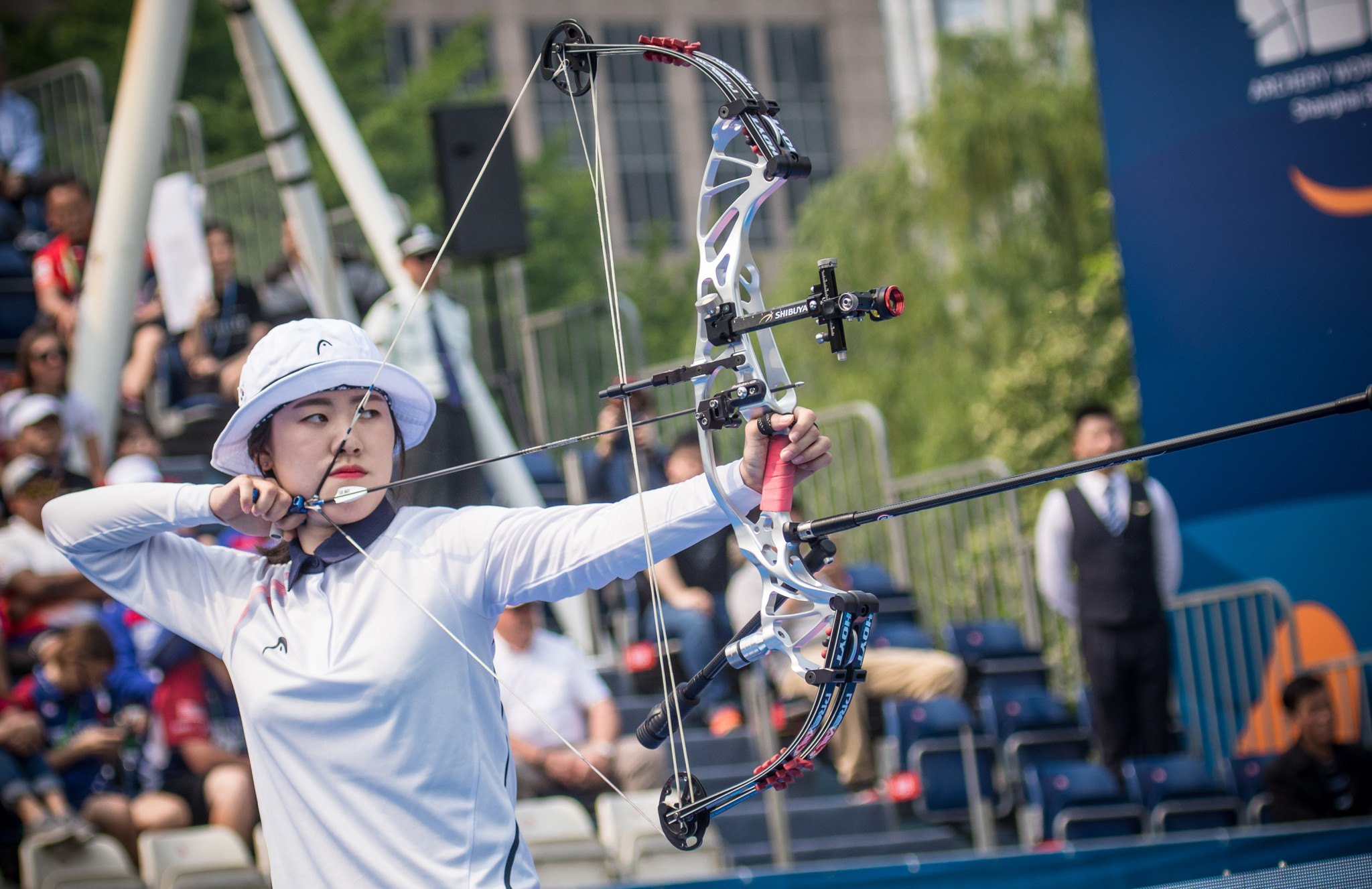 So Chaewon topped the women's compound qualification standings ©Getty Images